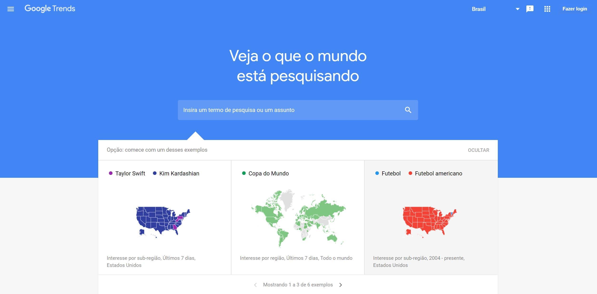 screenshot Google Trends - Análise da concorrência