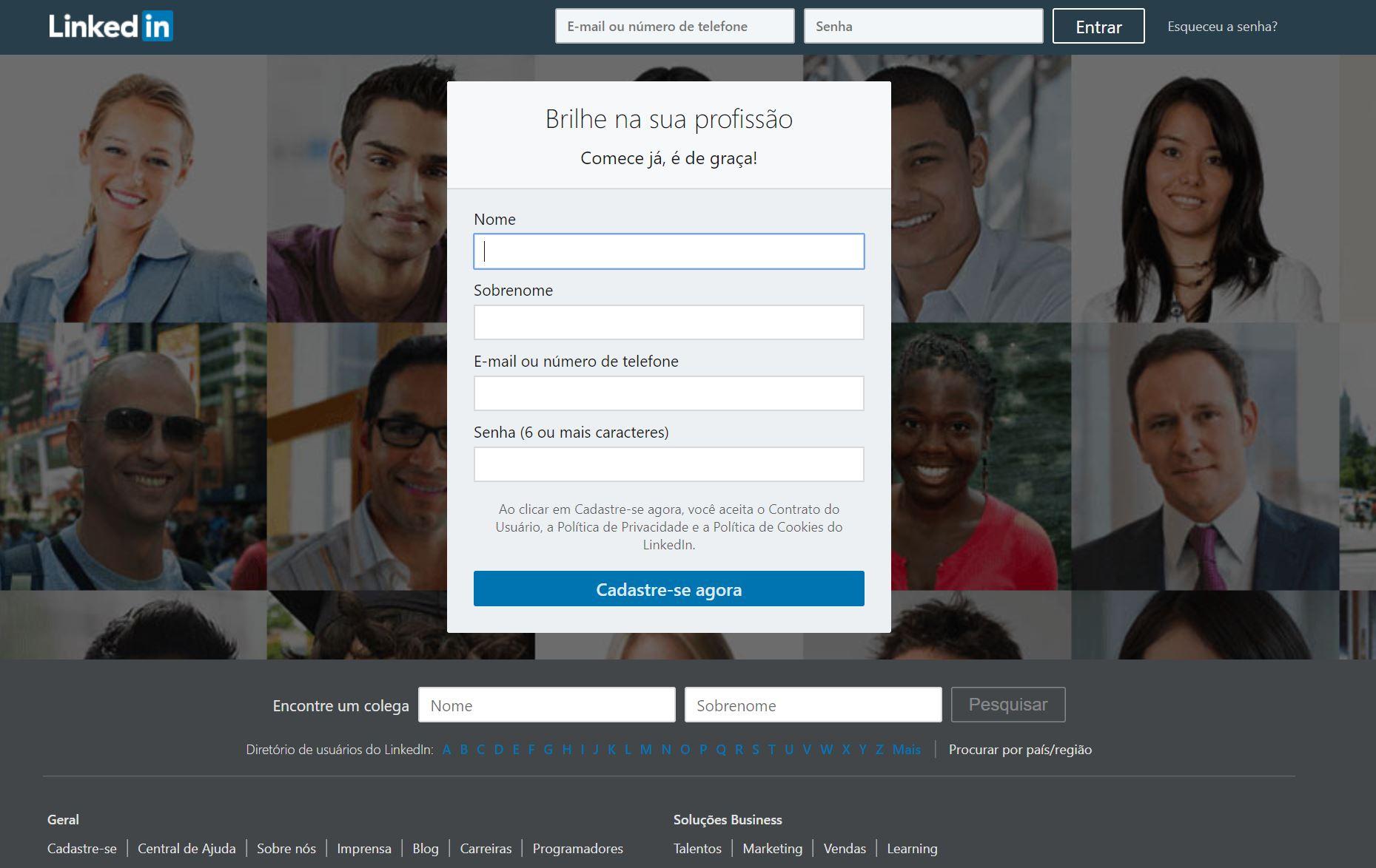 screenshot LinkedIn - Análise da concorrência